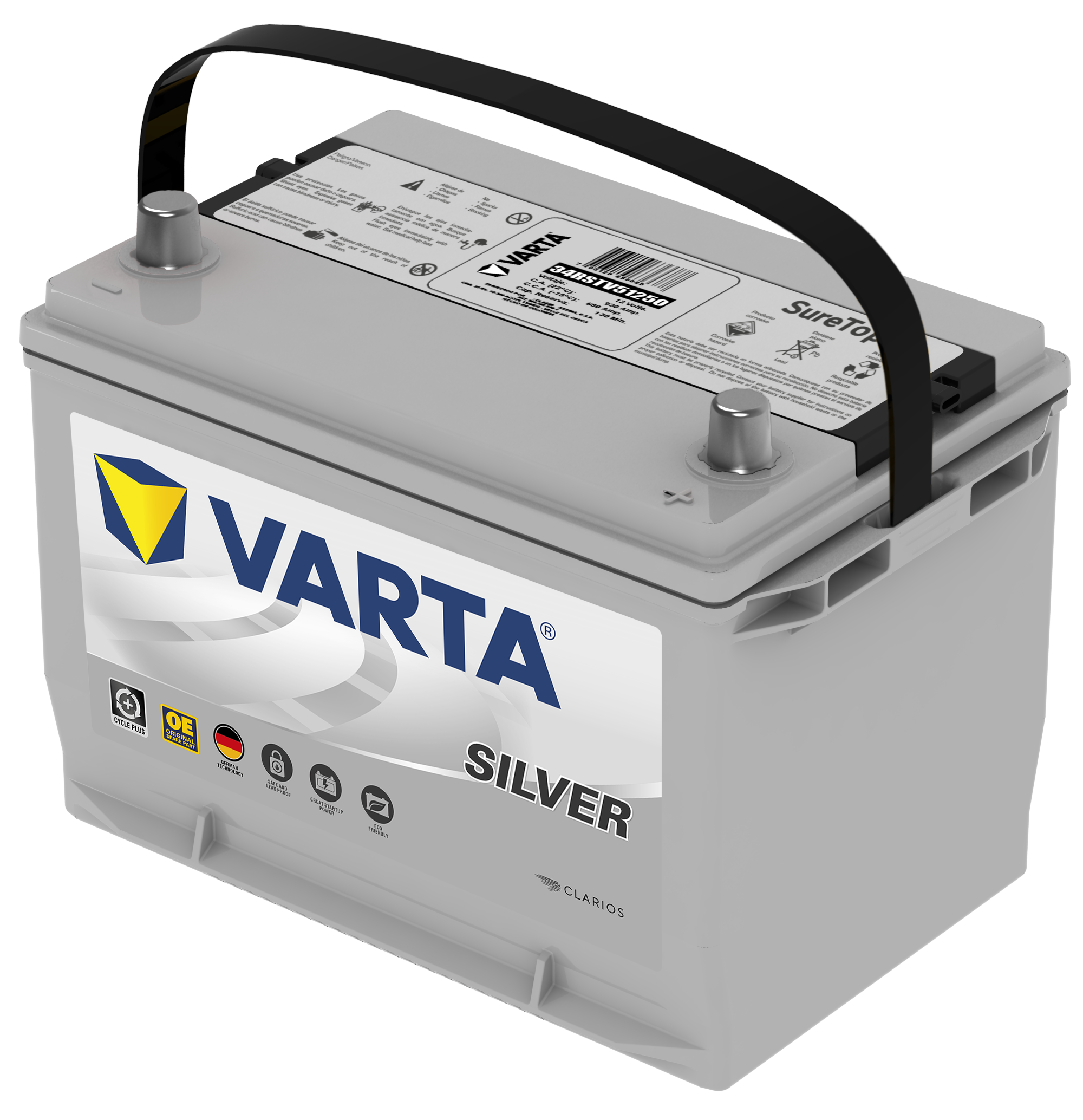 Bateria Varta Silver 34RSTV51250 Domicilio Gratis